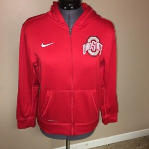 Nike Ohio state zip up hoodie therma fit size L